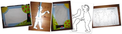 View Make a simple shadow puppet theatre